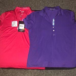 2 Dri-Fit Golf Shirts-Nike and Adidas